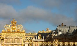 Castle Versailles gate Stock Images