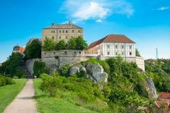 Castle in Veszprem, Hungary stock images