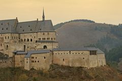 Castle Vianden. Ruins of the old castle Vianden Stock Photography