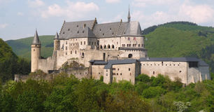 Castle Vianden. Landscape view of Castle Vianden located in Luxembourg Stock Photo