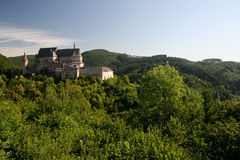 Castle in Vianden, Luxembourg. On a summers morning Stock Image