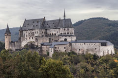 Castle of Vianden. In Luxembourg Royalty Free Stock Image