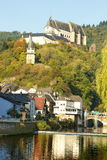 Castle in Vianden, Luxembourg. In autumn, surounded by vivid colors Royalty Free Stock Photo