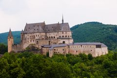 Castle vianden,luxembourg stock photo