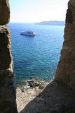 Castle view. A view from Castle Bodrum - Turkey Royalty Free Stock Photography