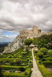 Castle view with big sky Royalty Free Stock Images