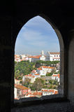 Castle view lisbon Royalty Free Stock Photography