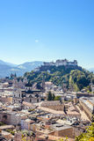 Castle view of Salzburg Austria in a bright summer day Royalty Free Stock Image