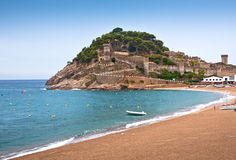 Castle view in Tossa de Mar, Spain. Royalty Free Stock Photography