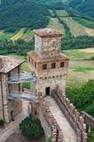 Castle of Vigoleno. Emilia-Romagna. Italy. Stock Images