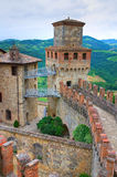 Castle of Vigoleno. Emilia-Romagna. Italy. Stock Photography