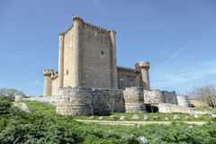 Castle of  Villafuerte of Esgueva Stock Photos