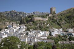Castle and Village in Cazorla; Andalusia Royalty Free Stock Images