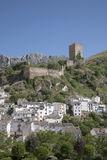 Castle and Village in Cazorla; Andalusia Stock Images