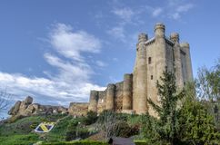 Castle of the village Valencia Don Juan. In the province of Leon Spain on a   sunny day Royalty Free Stock Images