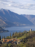 Castle and village in Varenna Stock Images