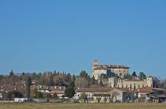 The castle of Villalta. The medieval castle of Villalta in the italian town of Fagagna Stock Image