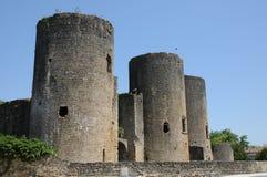 Castle of Villandraut in Gironde Stock Image