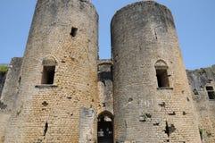 Castle of Villandraut in Gironde Stock Photo