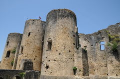 Castle of Villandraut in Gironde Stock Photography