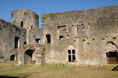 Castle of Villandraut in Gironde Stock Images