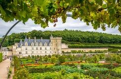 Castle Villandry with garden. Royalty Free Stock Photo
