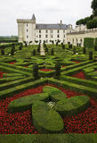 Castle of Villandry, at Loire Valley Stock Images