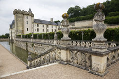 Castle of Villandry, at Loire Valley Stock Photos
