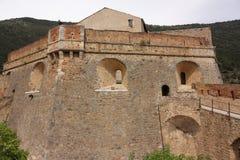 Castle of Villefranche-de-Conflent in Pyrenees Royalty Free Stock Photos