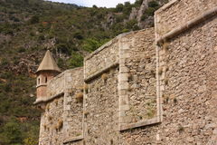 Castle of Villefranche de Conflent in Pyrenees Orientales, France Royalty Free Stock Images
