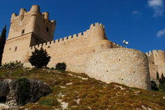 Castle of Villena, Alicante, Spain Stock Images