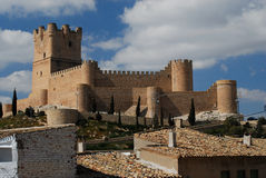 Castle of Villena, Alicante, Spain Stock Photography