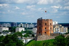 Castle in Vilnius Royalty Free Stock Photography