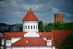 Castle in Vilnius Royalty Free Stock Images