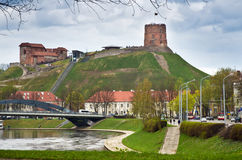Castle in Vilnius. Castle of Gediminas in Vilnius, Lithuania royalty free stock images