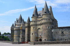 Castle in Vire in Normandy (France) on JULY 2014. Medieval castle in Vire (Normandy) in France on JULY 2014 Stock Photo
