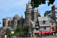 Castle in Vire in Normandy (France) on JULY 2014. Medieval castle in Vire (Normandy) in France on JULY 2014 Royalty Free Stock Photography