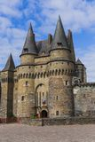 Castle of Vitre in Brittany - France. Travel and architecture background Stock Photo