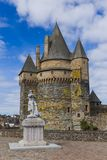 Castle of Vitre in Brittany - France Royalty Free Stock Image