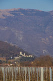 The castle of Vittorio Veneto. This castle is the home of the Bishop of Vittorio Veneto since the medieval age, when the bishop was the lord of all the royalty free stock photography