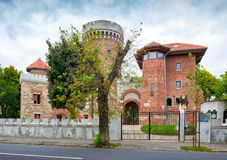 The castle of Vlad the Impaler in Bucharest in the Carol Park. BUCHAREST, ROMANIA - OCTOBER 17, 2015: The castle of Vlad the Impaler in Bucharest in the Carol Stock Images