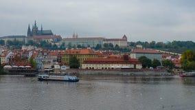 The Castle and the Vltava, Prague Stock Photo