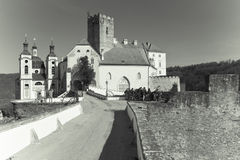 Castle Vranov nad Dyji. Vranov nad Dyji Castle, Czech Republic Stock Photo