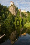 Vranov nad Dyji, Czech republic. Castle Vranov nad Dyji in the Southern Moravia, Czech republic. The castle stands on a high rock above the river Dyje Royalty Free Stock Images