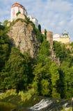Vranov nad Dyji, Czech republic. Castle Vranov nad Dyji in the Southern Moravia, Czech republic. The castle stands on a high rock above the river Dyje Royalty Free Stock Photos