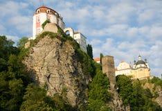 Vranov nad Dyji, Czech republic. Castle Vranov nad Dyji in the Southern Moravia, Czech republic. The castle stands on a high rock above the river Dyje Royalty Free Stock Photography