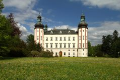 Castle in Vrchlabi city Royalty Free Stock Photography