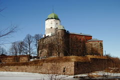 Castle in Vyborg. The medieval castle in Vyborg. The oldest in Russia Stock Photography