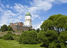Castle in Vyborg, Russia Stock Photography