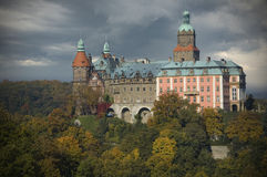 Castle in Walbrzych, Poland Royalty Free Stock Images